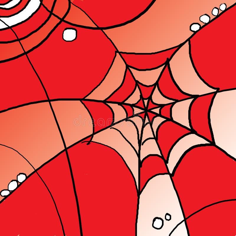 Abstrakt pająk sieć obraz stock