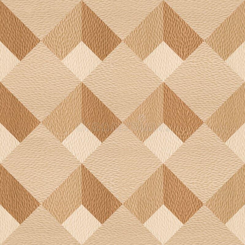 Abstrakt panelmodell - sömlös bakgrund - trä för vit ek vektor illustrationer