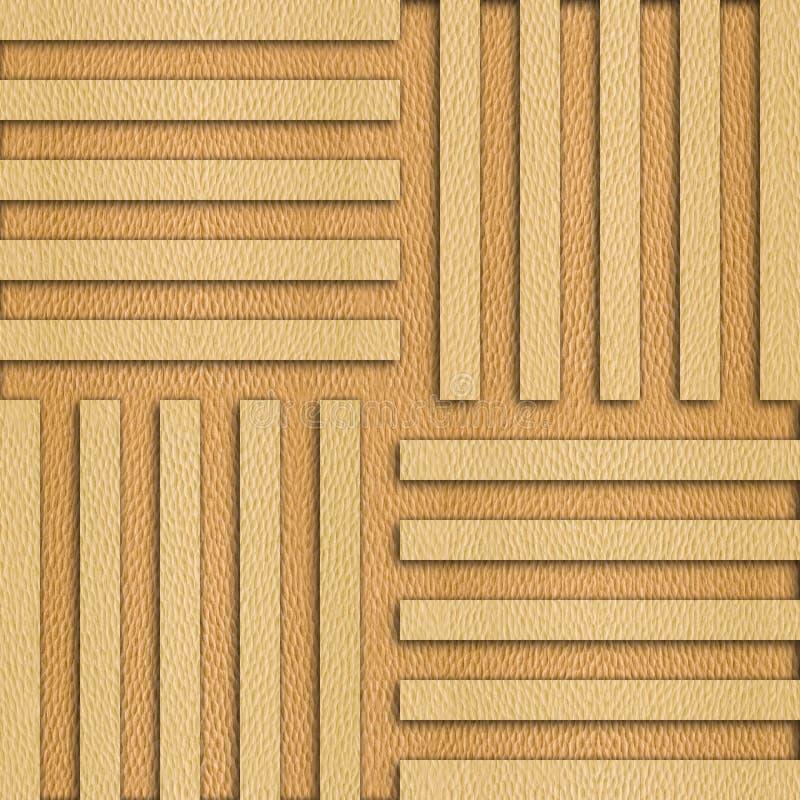 Abstrakt panelmodell - sömlös bakgrund - trä för vit ek stock illustrationer