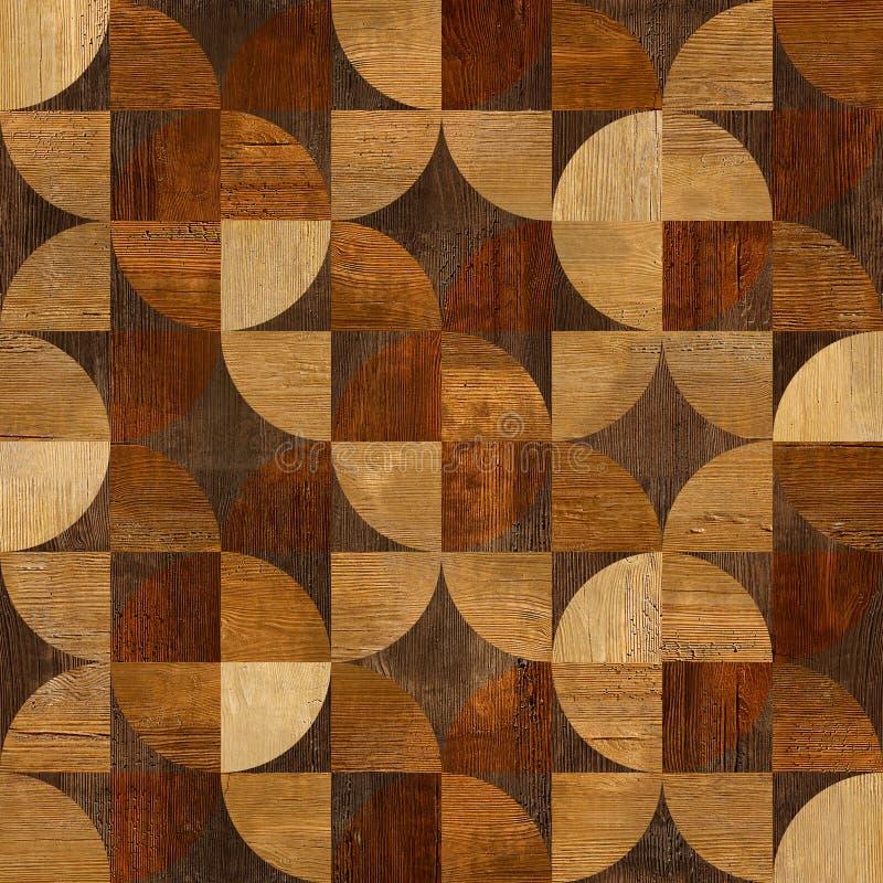 Abstrakt panelmodell - sömlös bakgrund - wood textur royaltyfri illustrationer