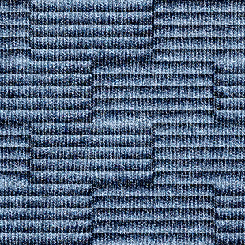Abstrakt panelmodell - sömlös modell - blå grov bomullstvilljeans royaltyfri foto