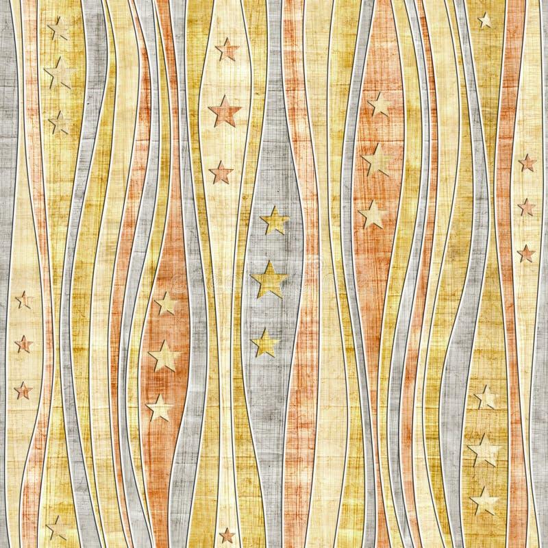 Abstrakt panelmodell - sömlös modell för stjärnor - papyrus stock illustrationer