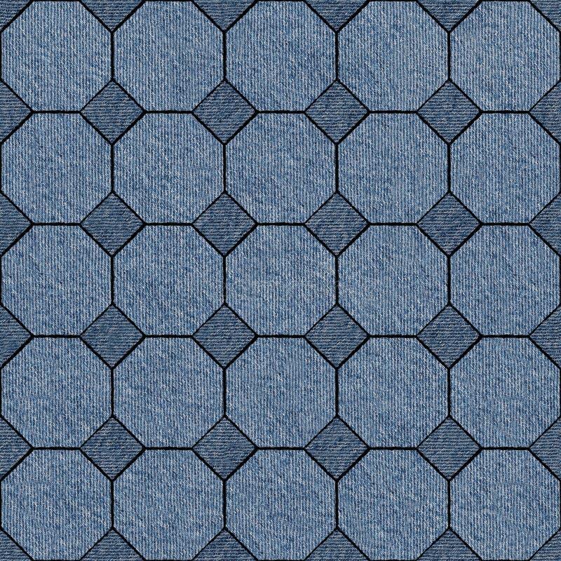 Abstrakt panelmodell - sömlös modell, jeanstextur vektor illustrationer