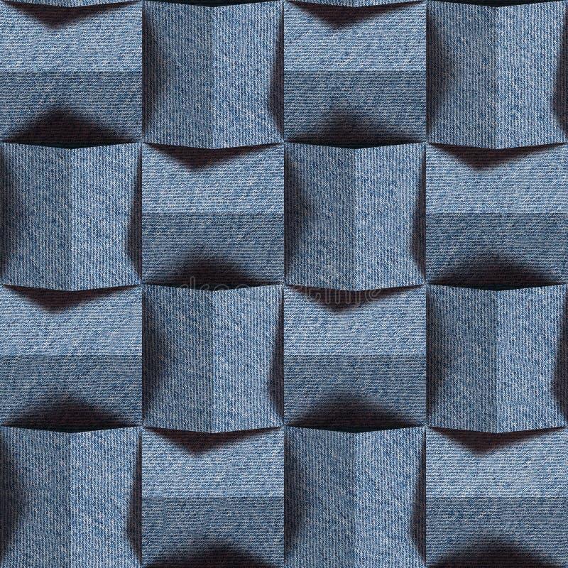 Abstrakt panelmodell - sömlös modell, jeanstextur fotografering för bildbyråer
