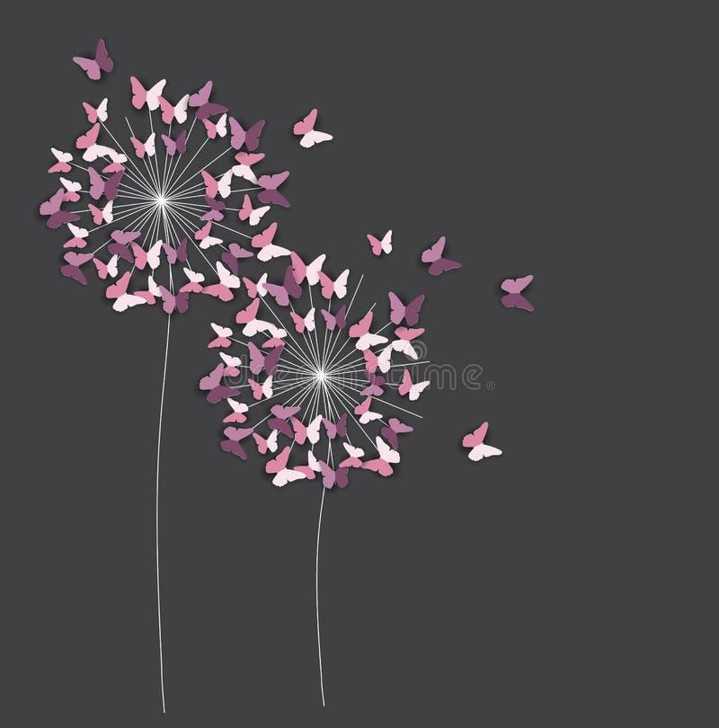 Abstrakt Papierowy Ciie Out Motyliego kwiatu tło również zwrócić corel ilustracji wektora ilustracja wektor