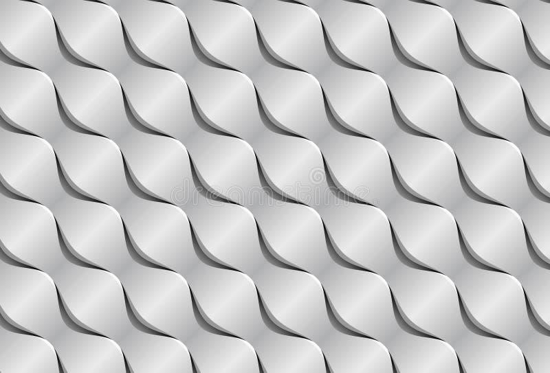 Abstrakt papper vinkar sömlös bakgrund 3d stock illustrationer