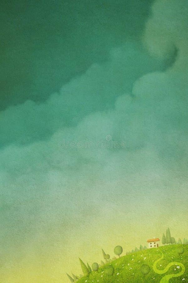 abstrakt pastell för bakgrundsfractalbild stock illustrationer
