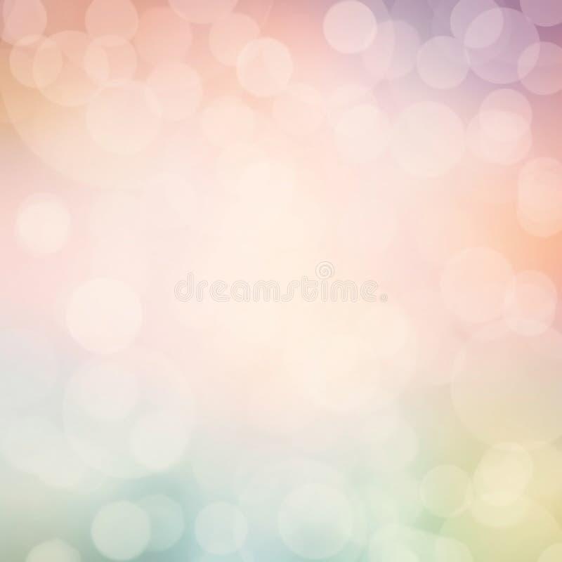 Abstrakt pastellfärgad defocused ljusbakgrund. Blinkad ljus bac vektor illustrationer
