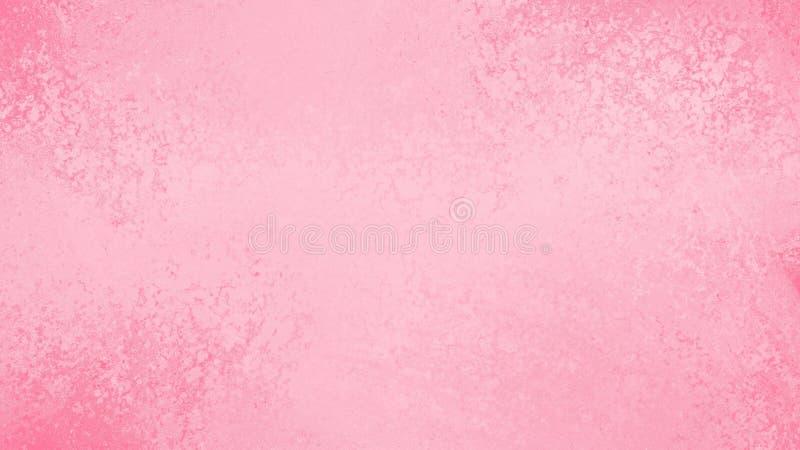 Abstrakt pastellfärgad rosa och vit bakgrund med grungetextur, mjuk nätt vårfärg vektor illustrationer
