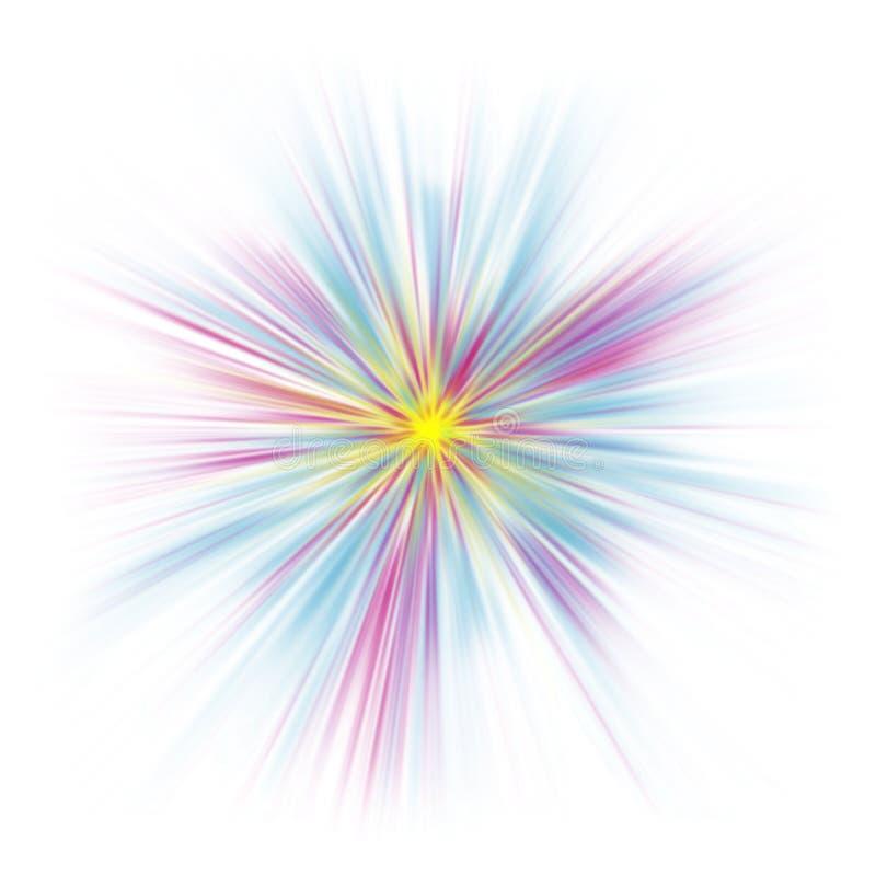 abstrakt pastellfärgad starburstwhite royaltyfri illustrationer