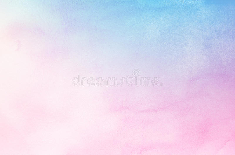 Abstrakt pastellfärgad vattenfärgbakgrund för blått och för rosa färger royaltyfria bilder