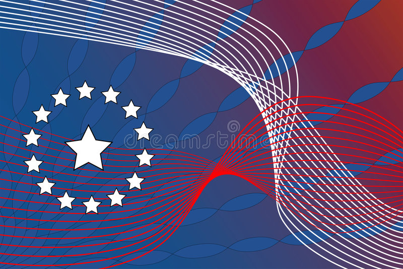 abstrakt patriotiskt stock illustrationer