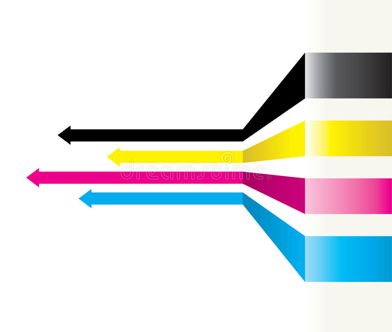 Abstrakt pilbakgrund stock illustrationer
