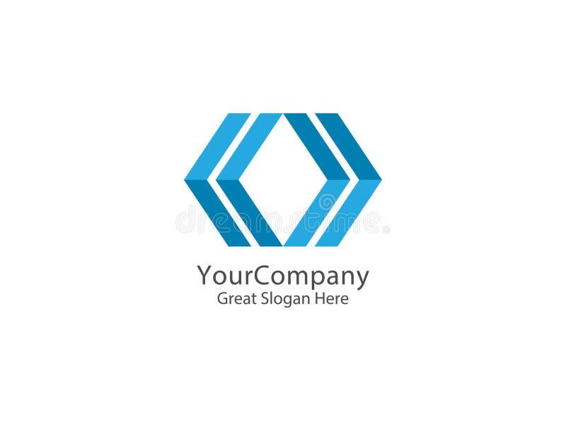 Abstrakt pilfyrkant Logo Icon logo för teknologidesignbegrepp royaltyfri illustrationer