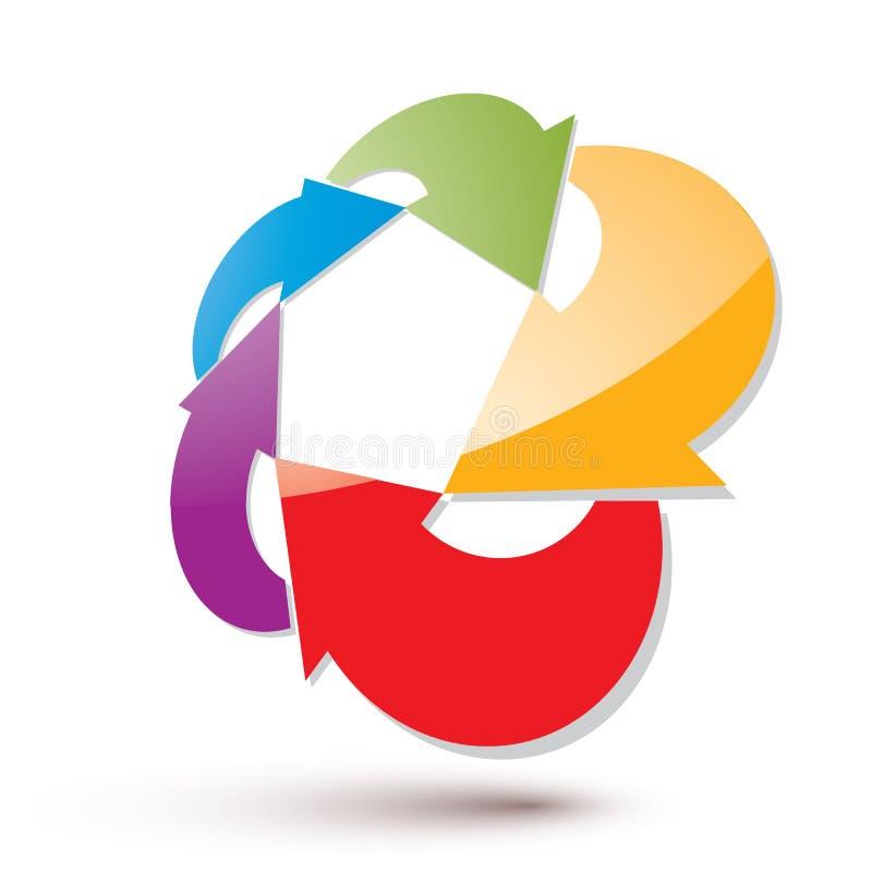 Abstrakt pilvektorsymbol, beståndsdel för grafisk design stock illustrationer