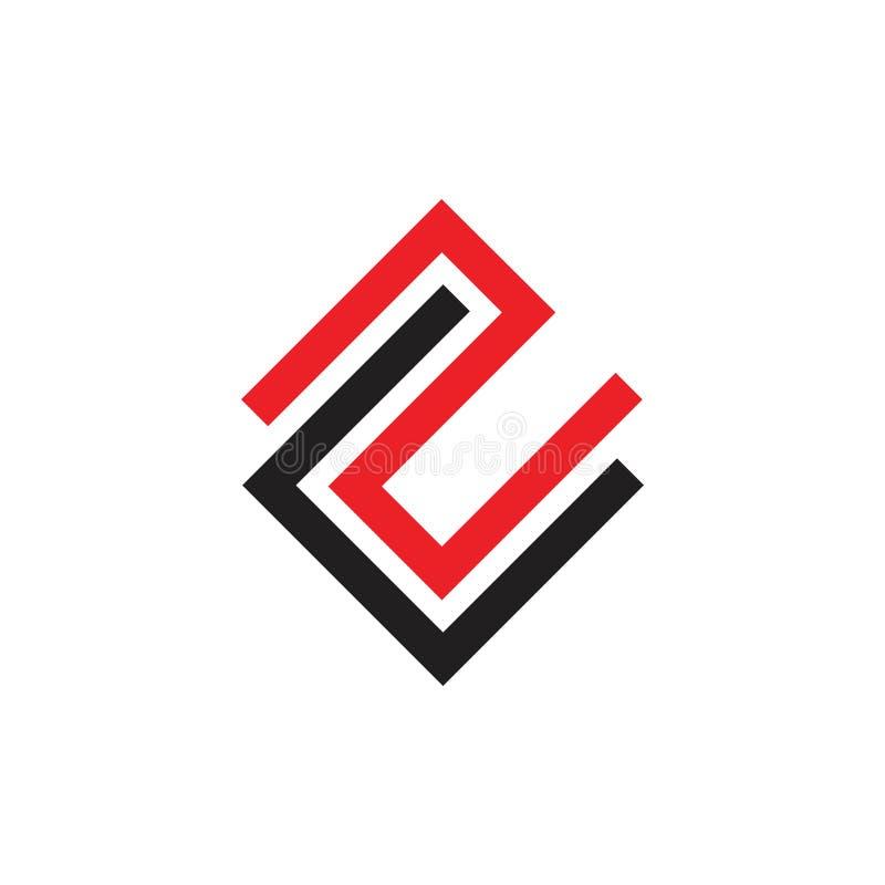 Abstrakt pisze list cs logo geometrycznego kreskowego wektor royalty ilustracja