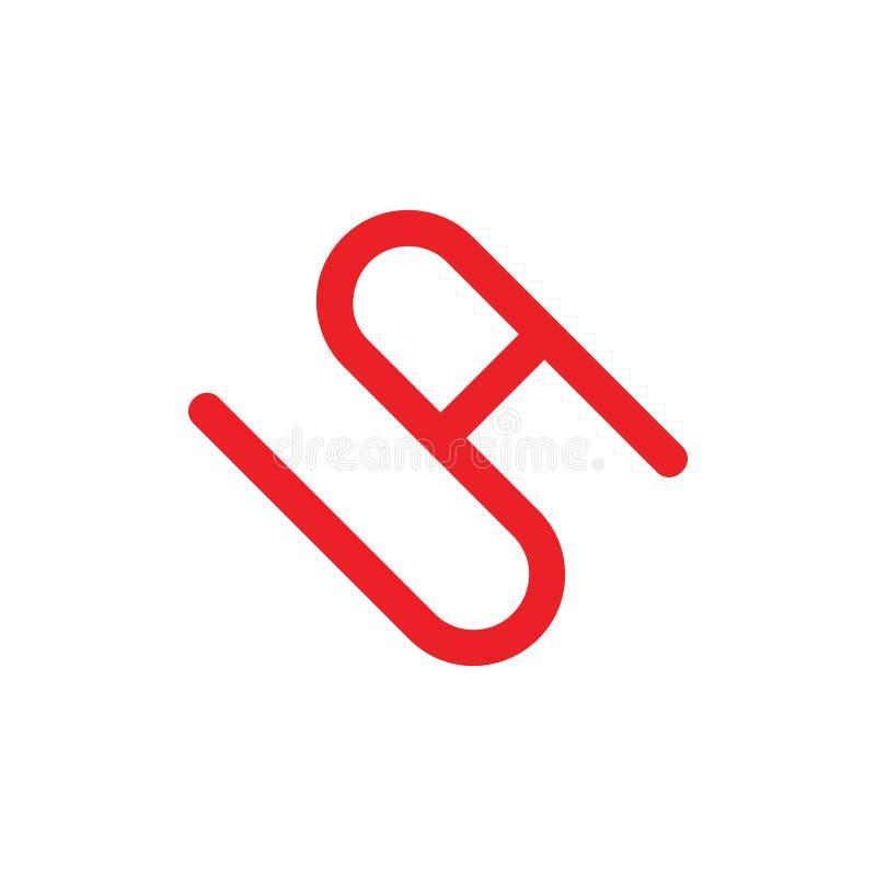 Abstrakt pisze list sa logo prostego kreskowego wektor royalty ilustracja
