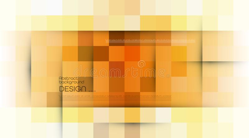 Abstrakt PIXEL f?r vektor eller geometrisk modellbakgrund Illustration av fyrkanter med bl? suddig lutningbakgrund f?r f?rg royaltyfri illustrationer