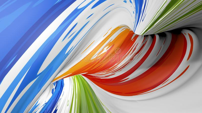 Abstrakt plast- textur, textur för vågfärgplast-, vågfärgbakgrund, färgrik krabb randig modell för design och royaltyfria bilder