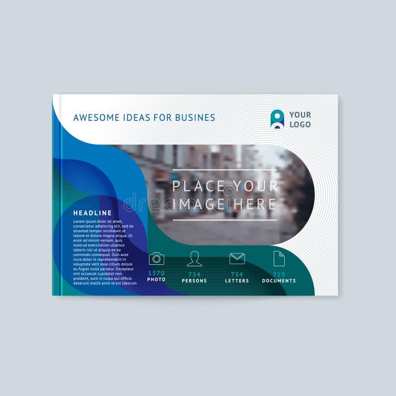 Abstrakt pokrywy projekt, biznesowy broszurka szablon ilustracji