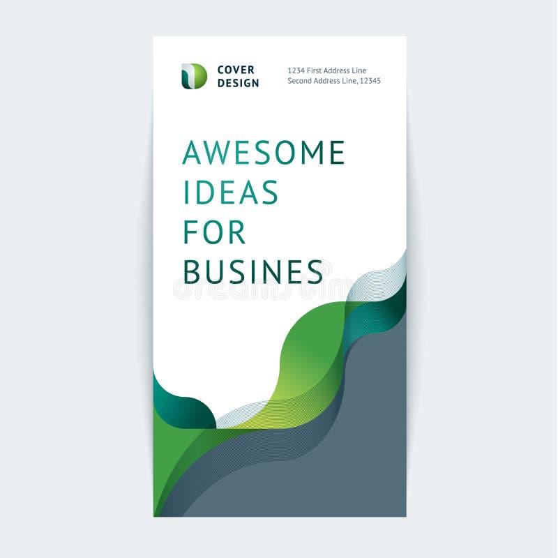 Abstrakt pokrywy projekt, biznesowy broszurka szablon royalty ilustracja
