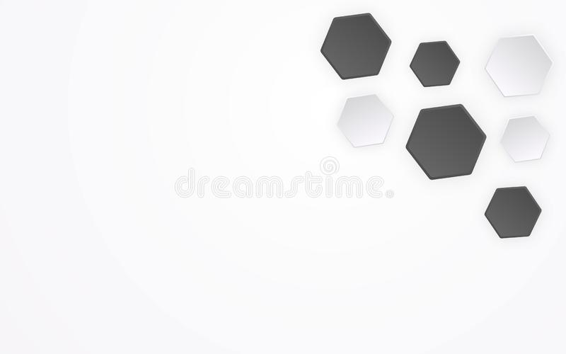 Abstrakt polygon som modellbakgrund för fotboll 3D Geometrisk form och idérikt begrepp för grafisk design Sexh?rningsbakgrund royaltyfri illustrationer