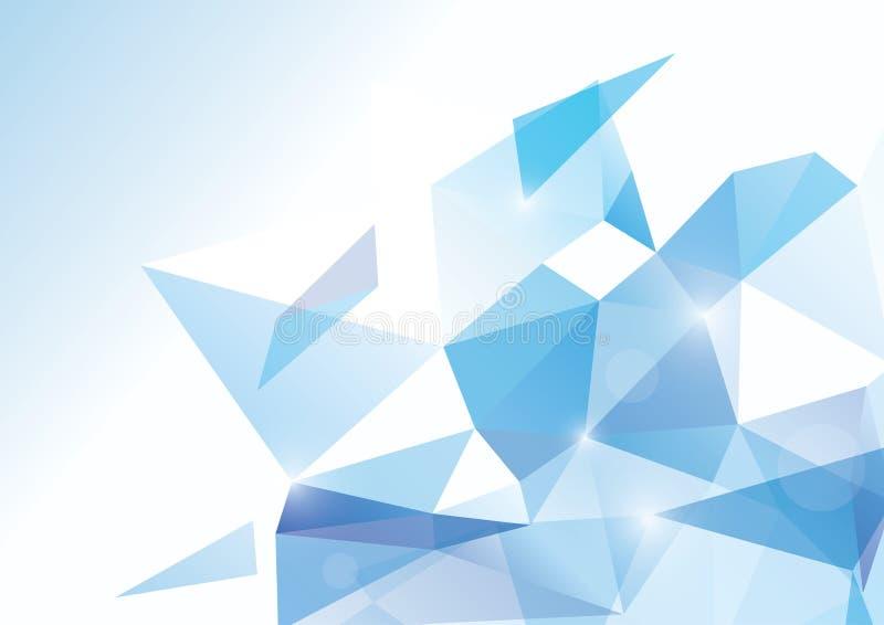 Abstrakt polygonal bakgrund för vektor royaltyfri illustrationer
