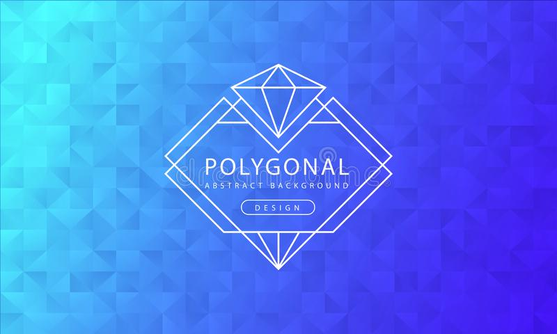 Abstrakt polygonal bakgrundstextur för blå himmel, texturerad blå himmel, banerpolygonbakgrunder, vektorillustration royaltyfri illustrationer