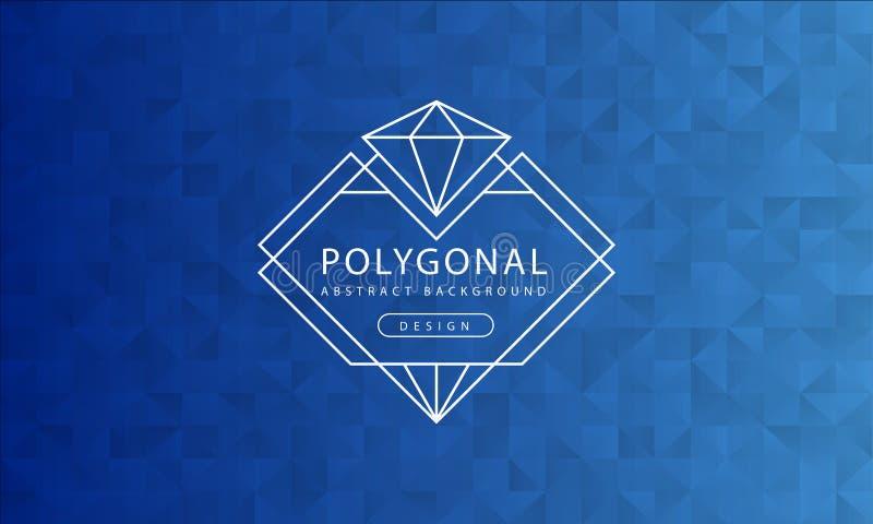 Abstrakt polygonal blå bakgrundstextur, blått texturerade, banerpolygonbakgrunder, vektorillustration stock illustrationer