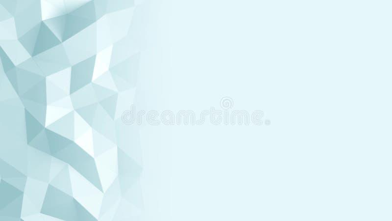 Abstrakt Polygonal geometrisk bakgrundsblåttfärg royaltyfri illustrationer