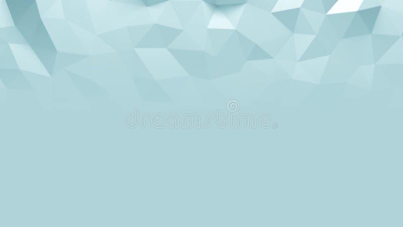 Abstrakt Polygonal geometrisk bakgrundsblåttfärg vektor illustrationer