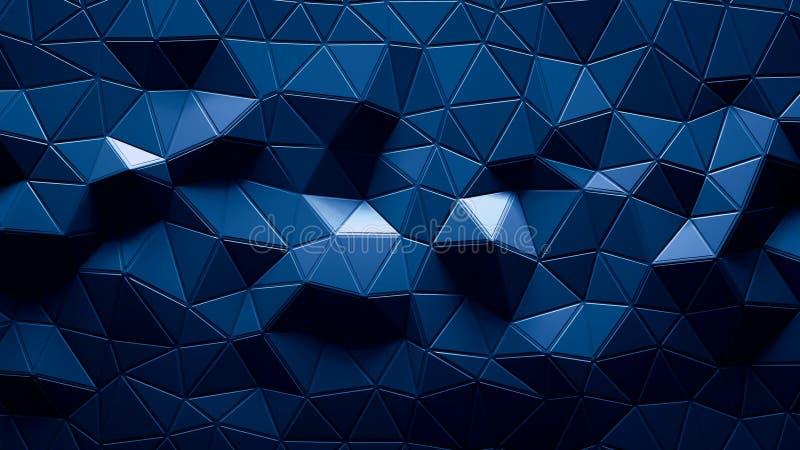 Abstrakt Polygonal geometrisk bakgrundsblåttfärg stock illustrationer