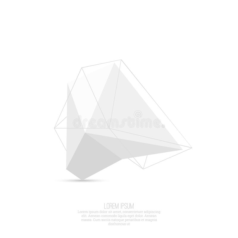 Abstrakt polygonal geometrisk form stock illustrationer
