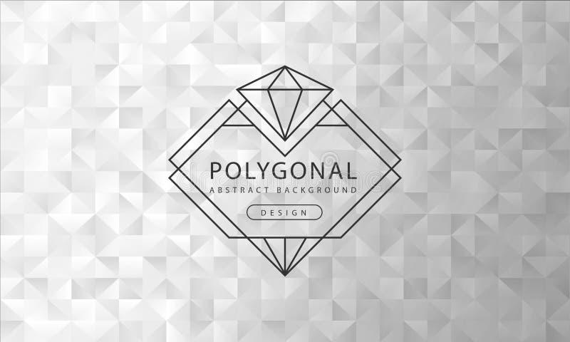 Abstrakt polygonal grå vit bakgrundstextur, grått vitt texturerat, banerpolygonbakgrunder, vektorillustration royaltyfri illustrationer