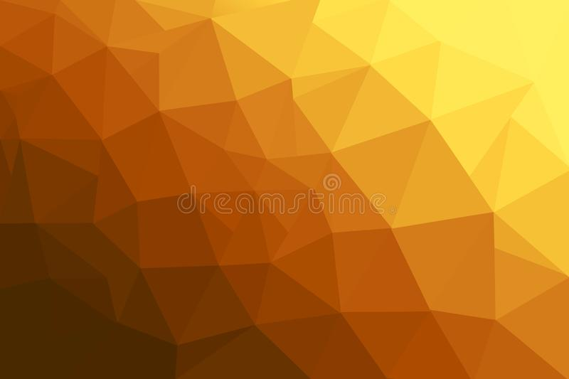 Abstrakt polygonal mosaikbakgrund Orange polygonbakgrund vektor illustrationer