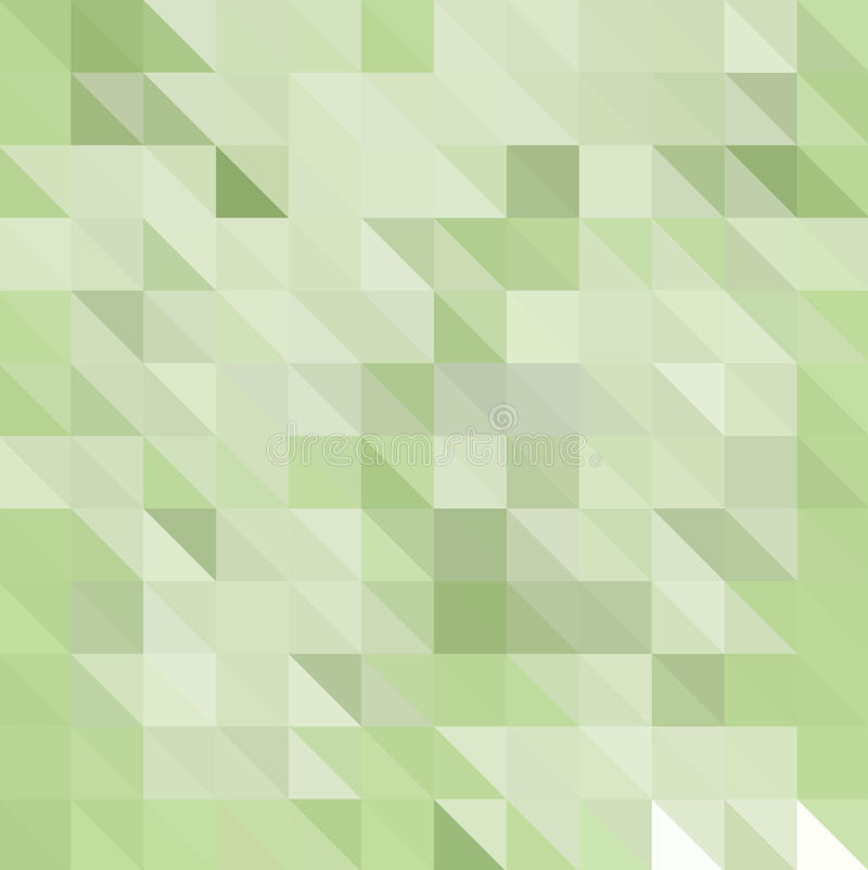 Abstrakt Polygonal mosaisk bakgrund av trianglar tänder - grön färg Oskarpt grönt raster royaltyfri illustrationer