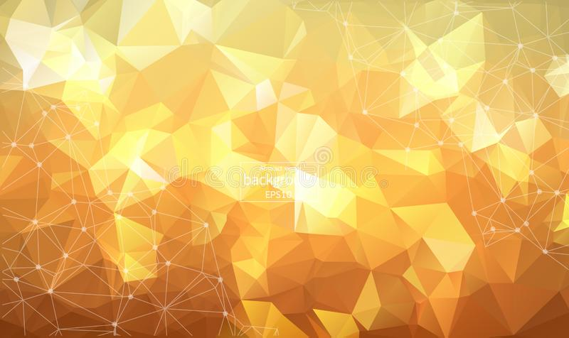 Abstrakt polygonal utrymmebakgrund med att förbinda pricker och fodrar Låg Poly vektorillustration royaltyfri illustrationer