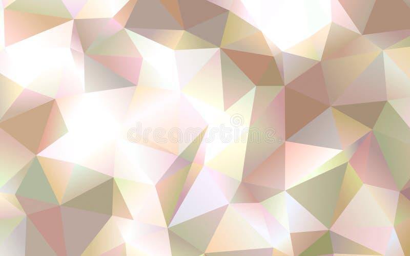 Abstrakt polygonmodelltapet royaltyfri foto