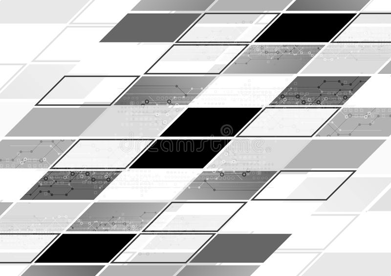Abstrakt popielatej techniki geometryczny korporacyjny tło royalty ilustracja
