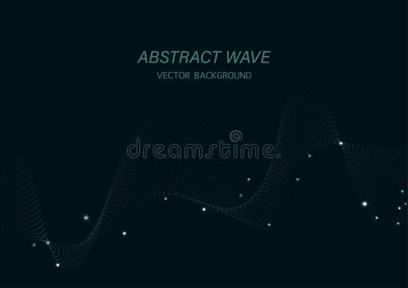 Abstrakt prickbakgrund för grön våg vektor illustrationer