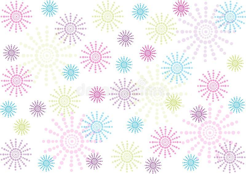 Abstrakt prickblommabakgrund vektor illustrationer