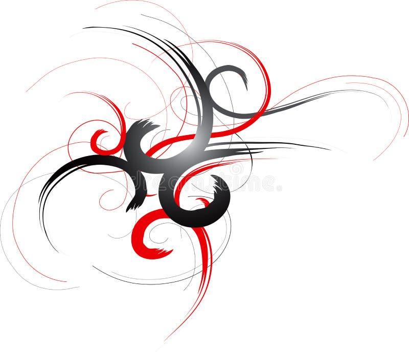 abstrakt prydnad vektor illustrationer