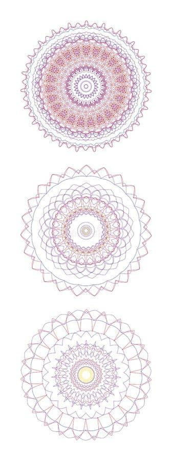 abstrakt prydnadar royaltyfri illustrationer