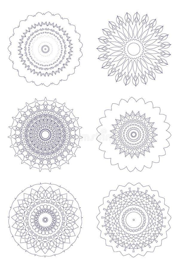 abstrakt prydnadar stock illustrationer