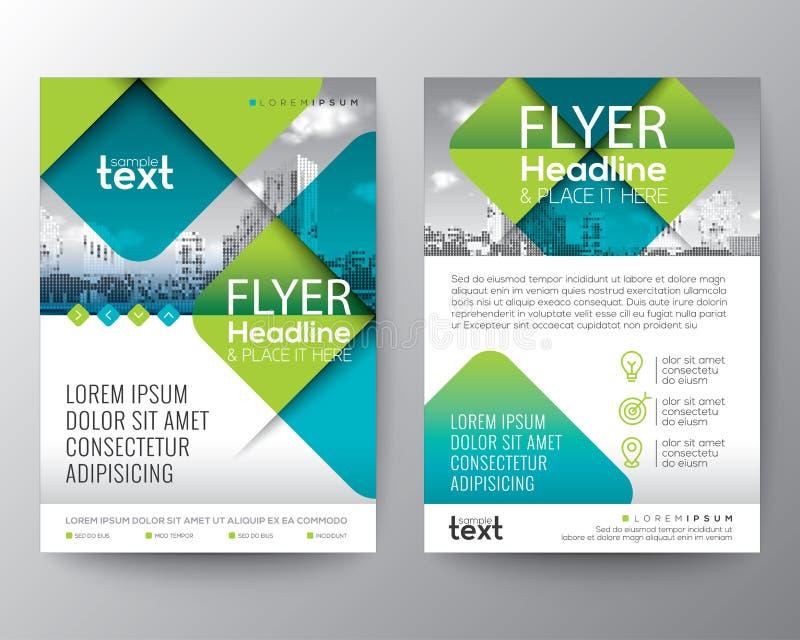 Abstrakt przekątny kwadrata Przecinający kształt z zielonym kolorem Graficzny elementu tło dla broszurki pokrywy ulotki projekta  ilustracji