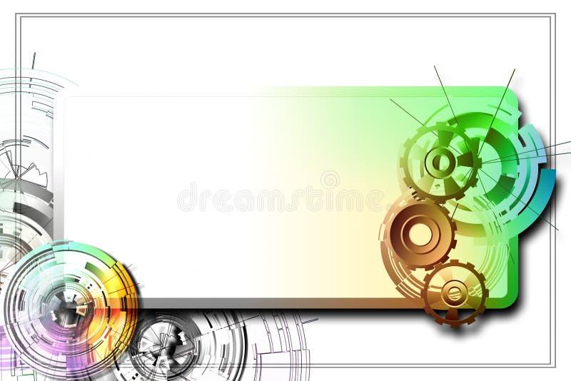 Abstrakt przekładnia i okręgi ilustracji