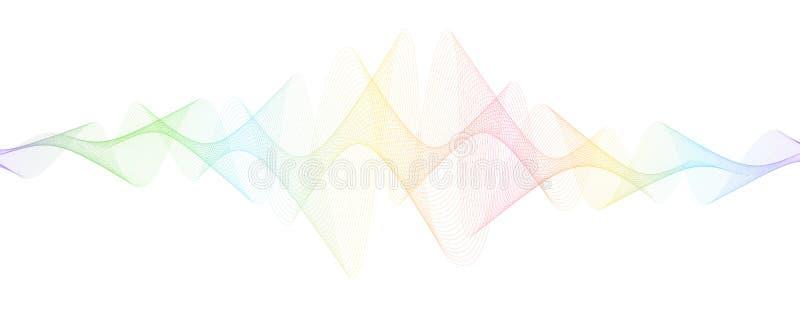 Abstrakt przekręcać linie odizolowywać na białym tle spokojnie redaguje projekt element?w wektora Kolorowi bieżący faliści lampas fotografia stock