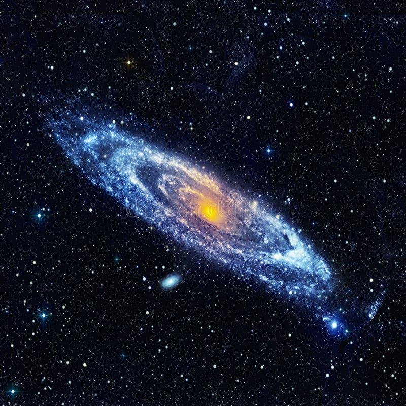Abstrakt przestrzeni krajobraz z ślimakowatym galaxy ilustracji