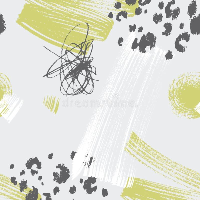 Abstrakt przesuwał w połówce wielkościowy bezszwowy wzór royalty ilustracja