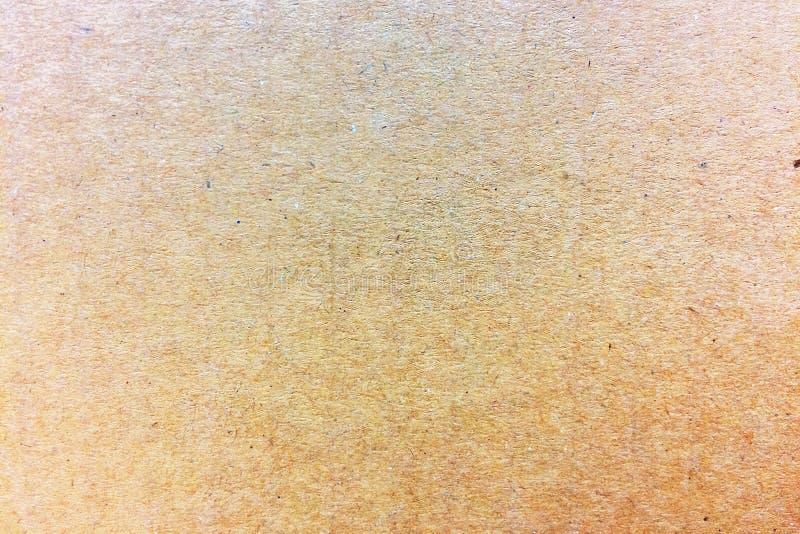 Abstrakt Przetwarza Jasnobrązową pudełko papieru tła teksturę fotografia royalty free